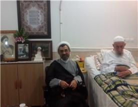 عیادت رئیس موسسه از آیت الله انصاری شیرازی