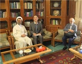دیدار و گفتگوی  رئیس کمیسیون آموزش دین در فرانسه و رئیس موسسه پژوهشی حکمت وفلسفه ایران